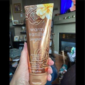 Bath and Body Warm Vanilla Sugar Body Cream.  NEW!